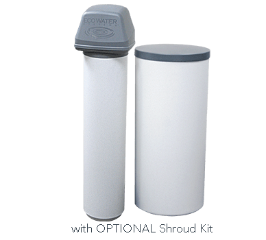 White two-tank EEC 1502 Series water softener