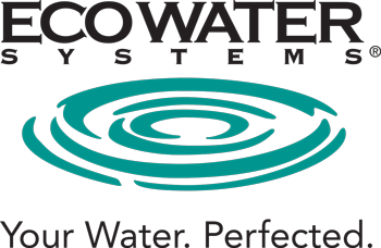 "Ecowater Systems logo with the text ""Your Water. Perfected."""