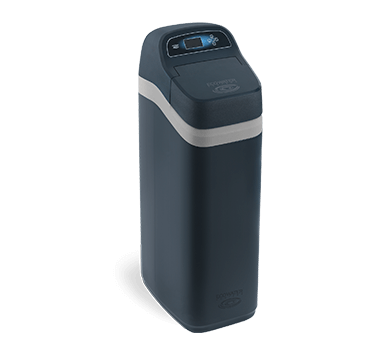 A black ECR3700 Series Elite water softener system
