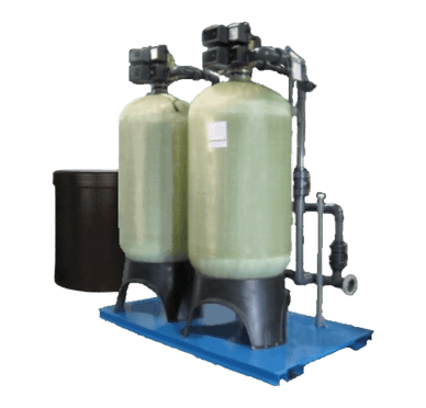 Two ECI fiberglass water softeners with valves