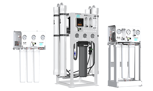 Three images of the Reverse Osmosis and Drinking Water systems