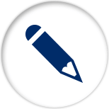 Blue icon of a pencil representing lead