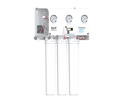 The ELP Series Reverse Osmosis System with two filters and a membrane