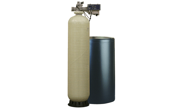 A water softener system.